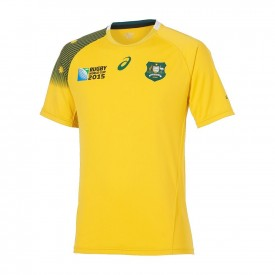 Maillot Equipe d'Australie Rugby domicile RWC 2015 - Asics 123328WR