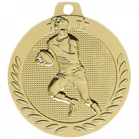 Médaille Rugby Or 40 mm France Sport
